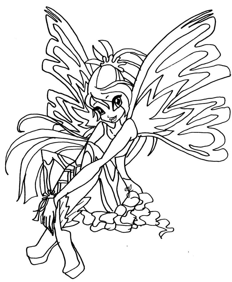 Winx Club Sirenix Coloring Pages Bloom Images Source