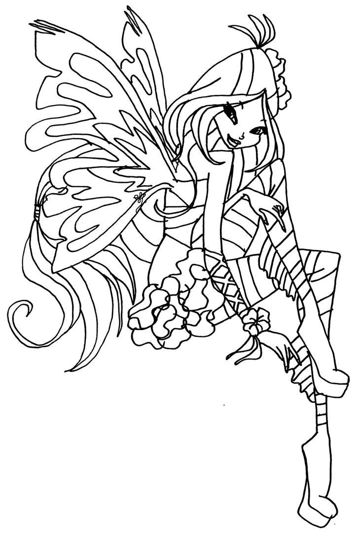 flora coloring pages - flora sirenix by elfkena on deviantart