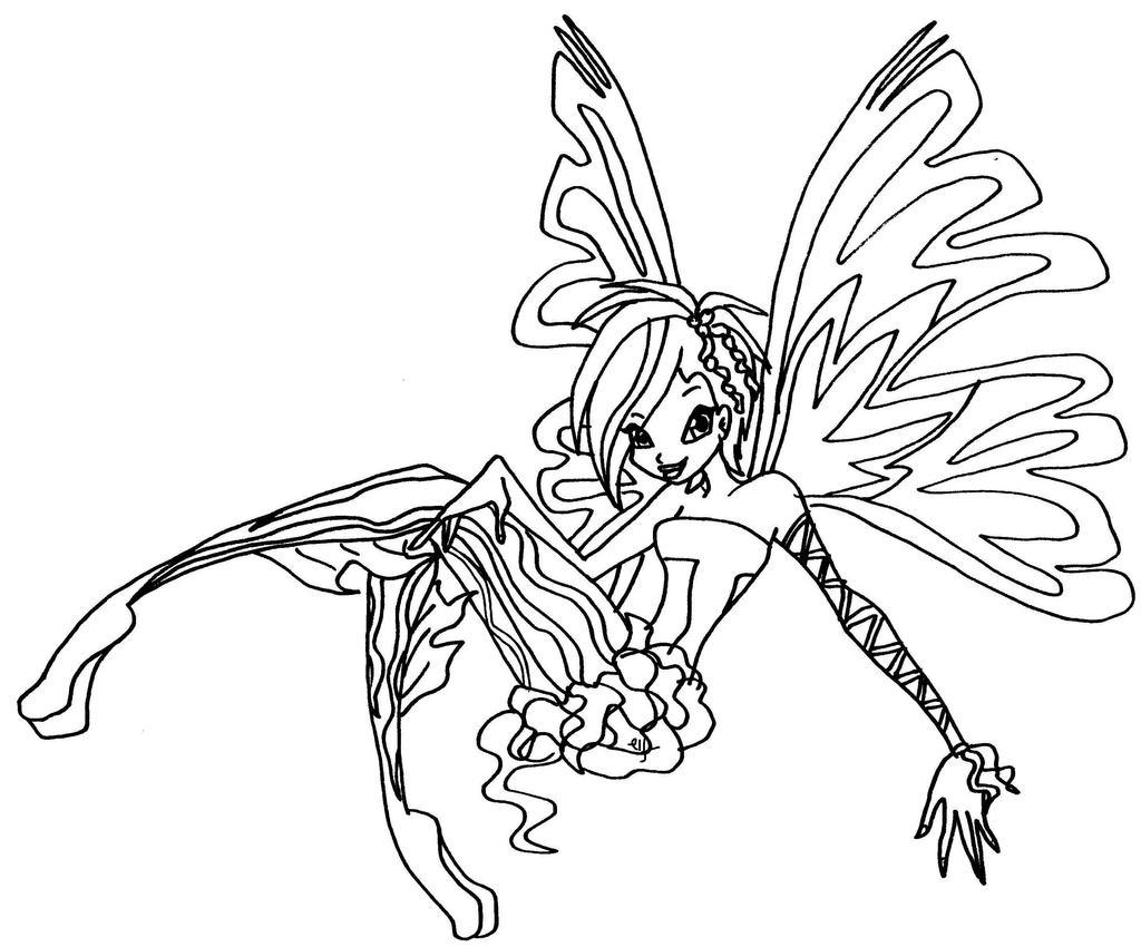 Tecna sirenix by elfkena on deviantart for Winx sirenix coloring pages