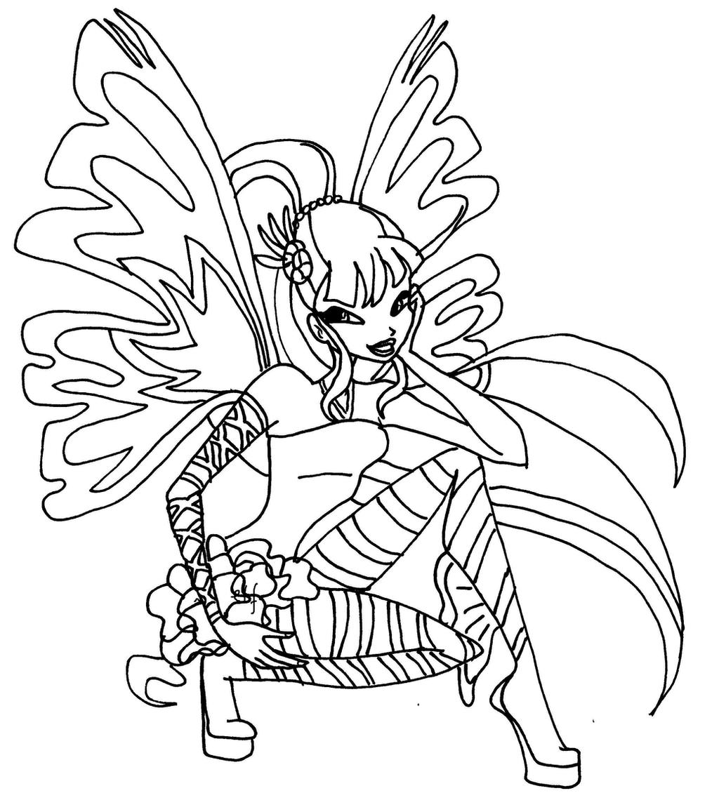 Musa Sirenix By Elfkena On Deviantart Winx Club Musa Coloring Pages