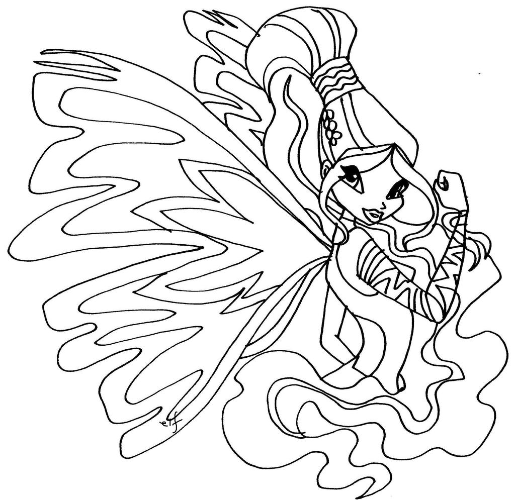 Winx Club Layla Coloring Page