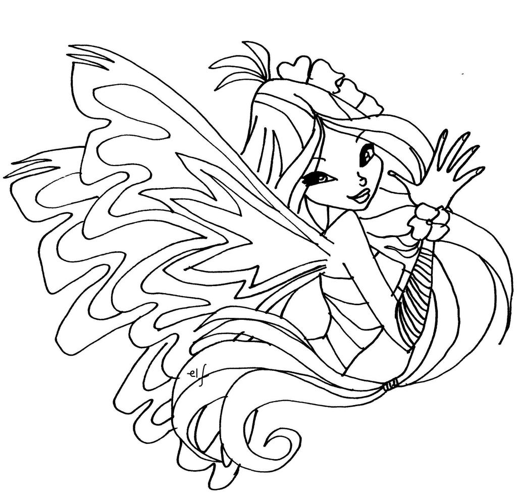Winx club sirenix coloring pages musa