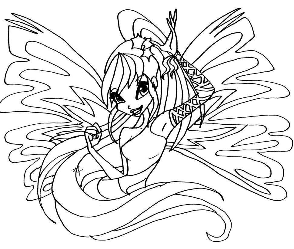 Stella sirenix by elfkena on deviantart for Winx club stella coloring pages