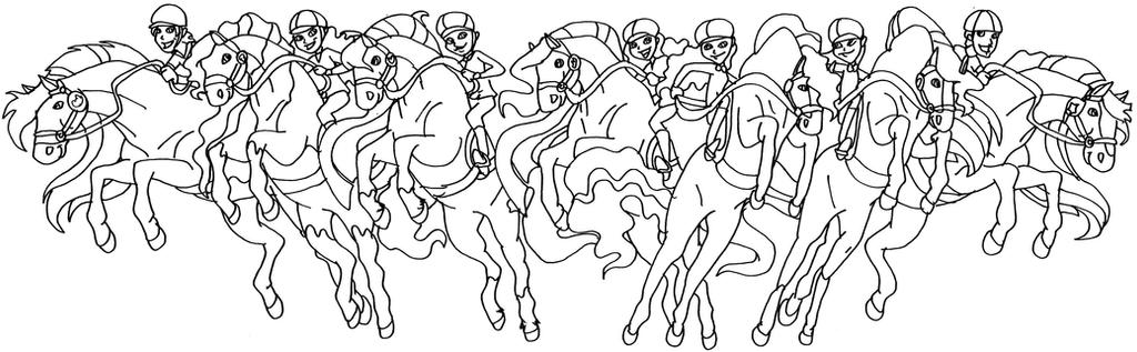 horseland all riders and horses by elfkena on deviantart - Horseland Coloring Pages Print