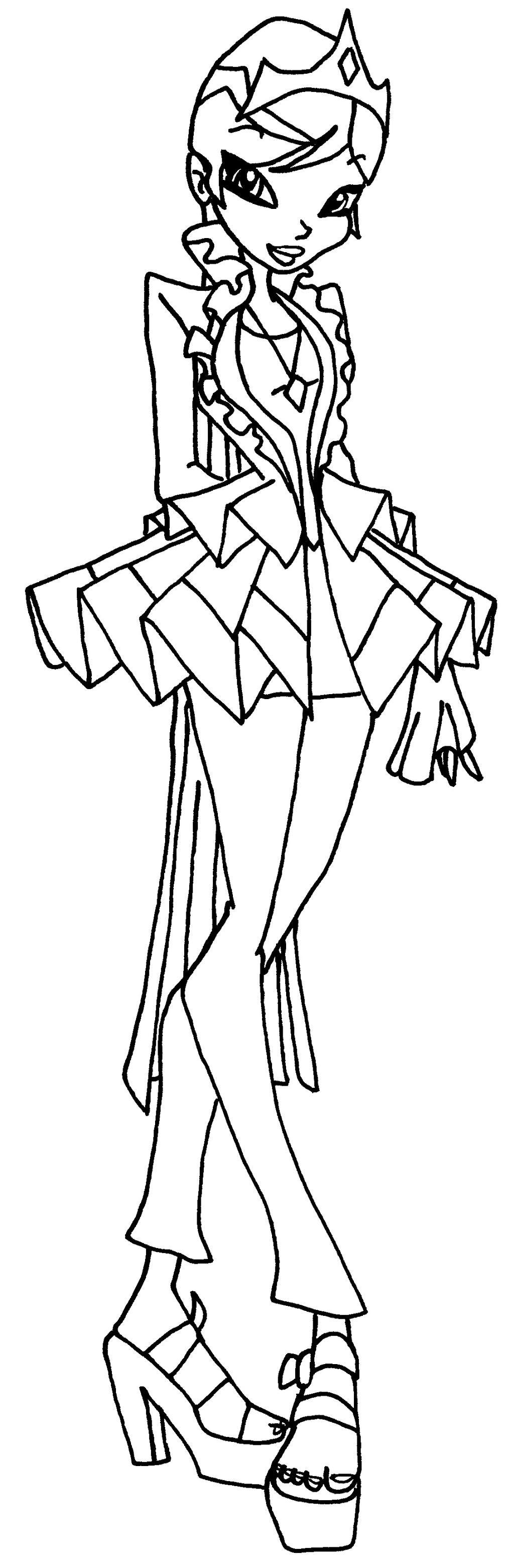 Winx princess coloring pages - Princess Galatea By Elfkena Princess Galatea By Elfkena