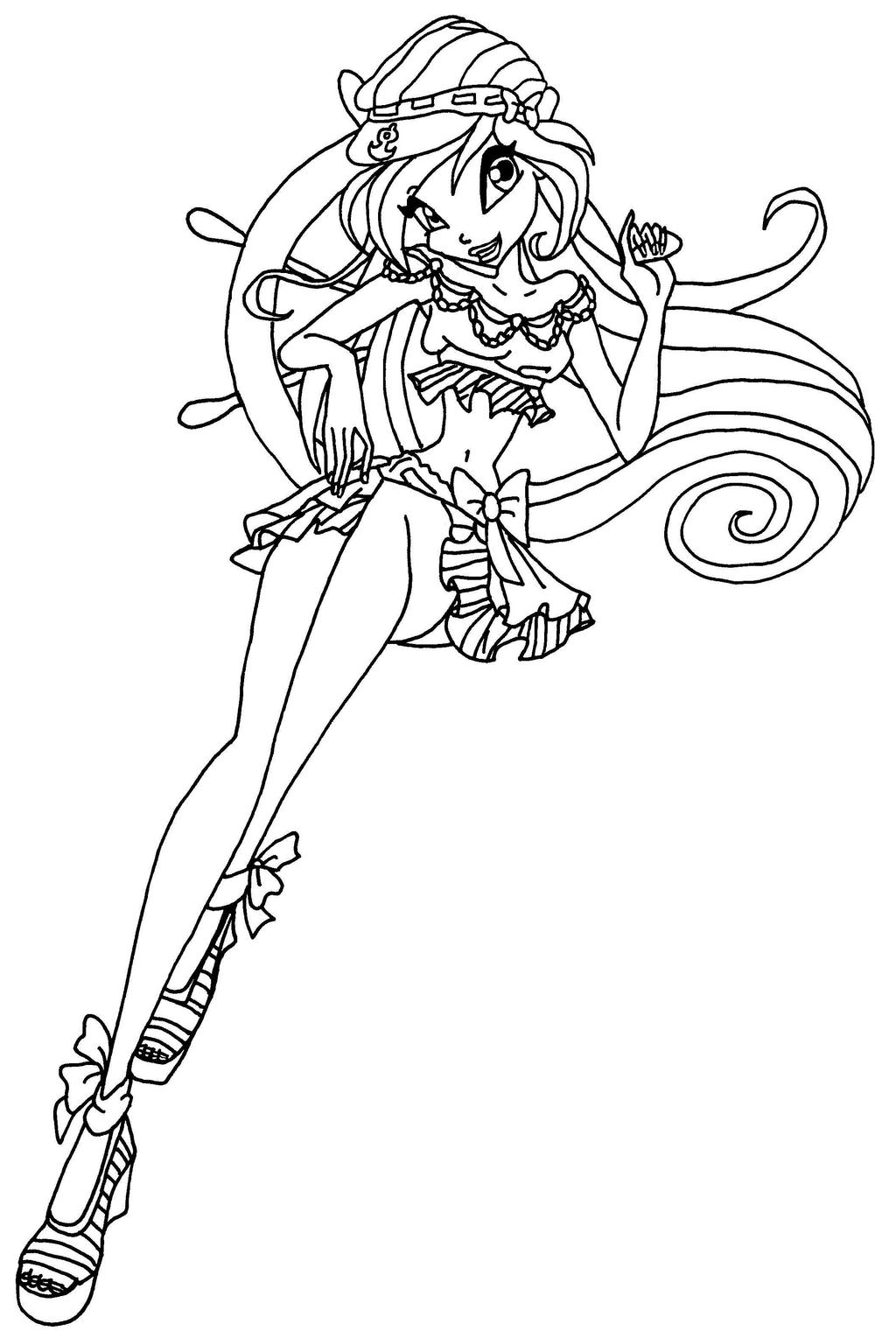 Bloom by elfkena on deviantart for Winx club bloom coloring pages