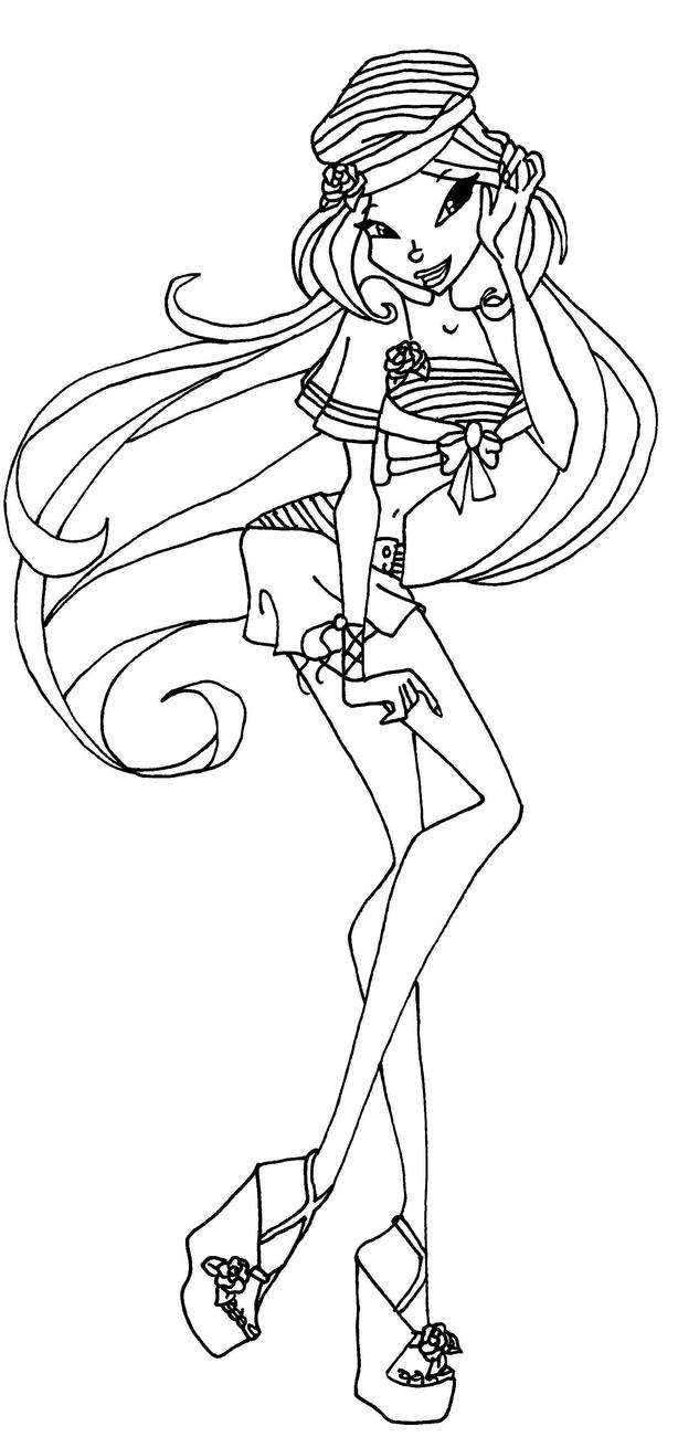 Flora by elfkena on deviantart for Winx club coloring pages flora