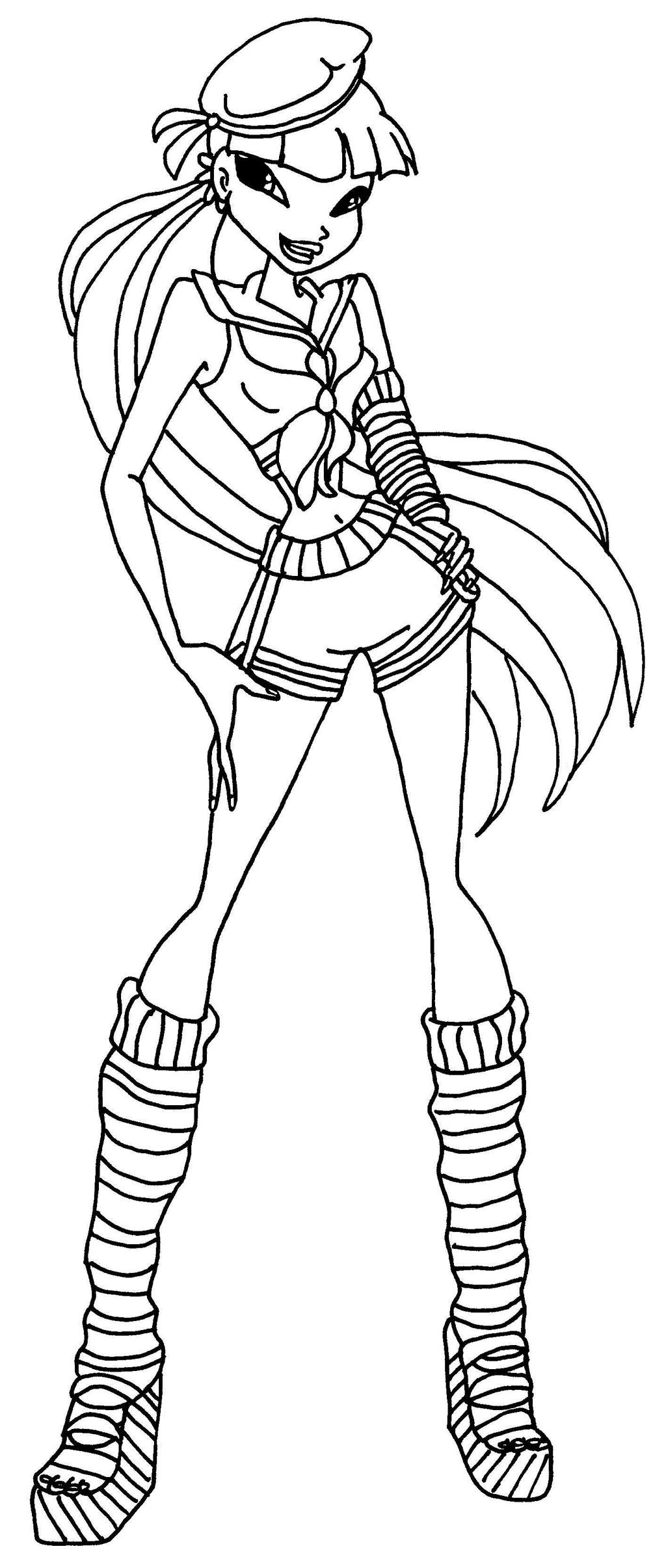 Winx Club Musa Coloring Pages Sketch