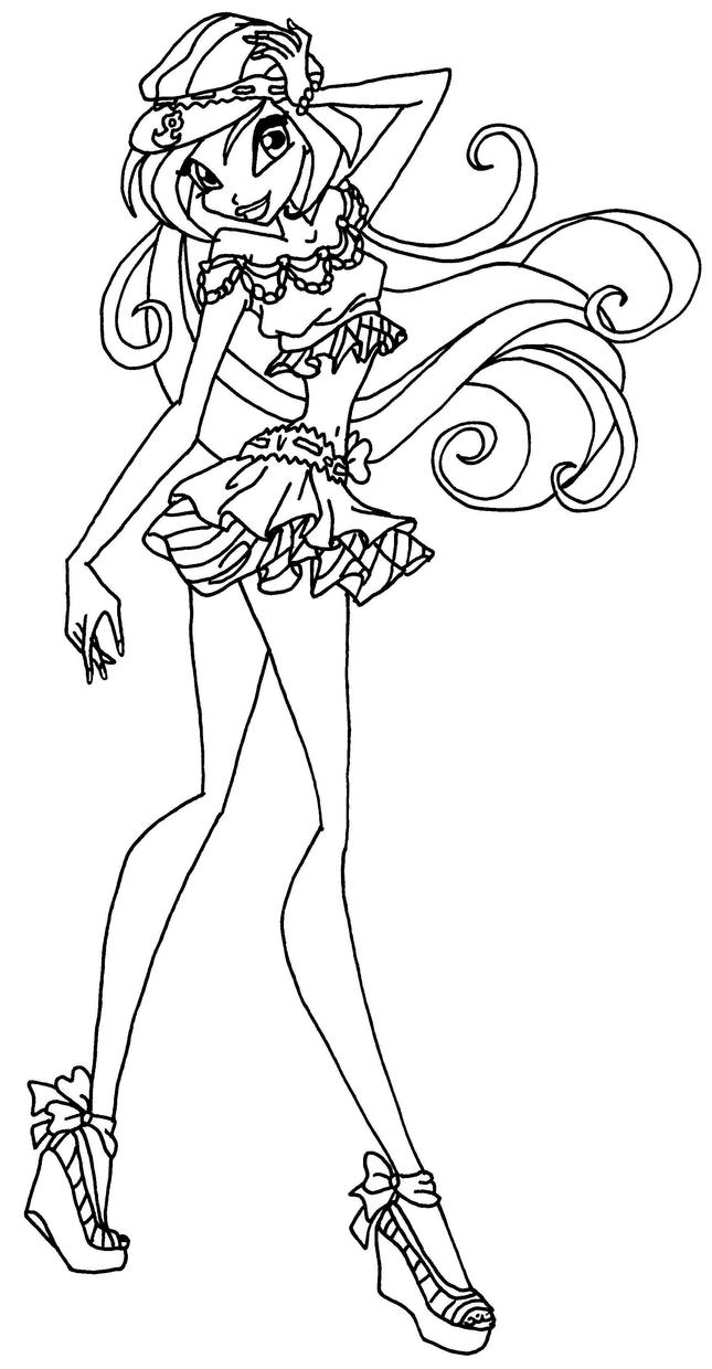 Bloom by elfkena on deviantart for Bloom winx coloring pages
