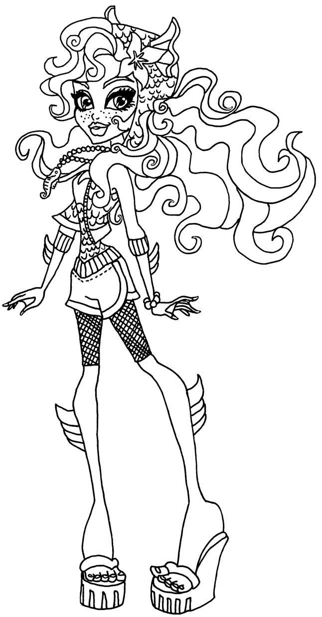 monster high coloring pages lagoona - photo#10