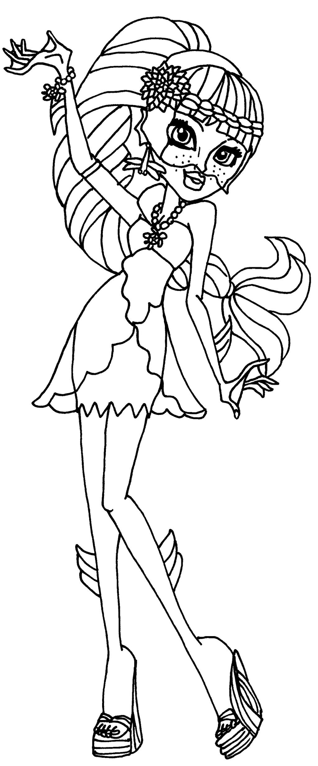Lagoona 13 wishes by elfkena on deviantart for Monster high coloring pages 13 wishes