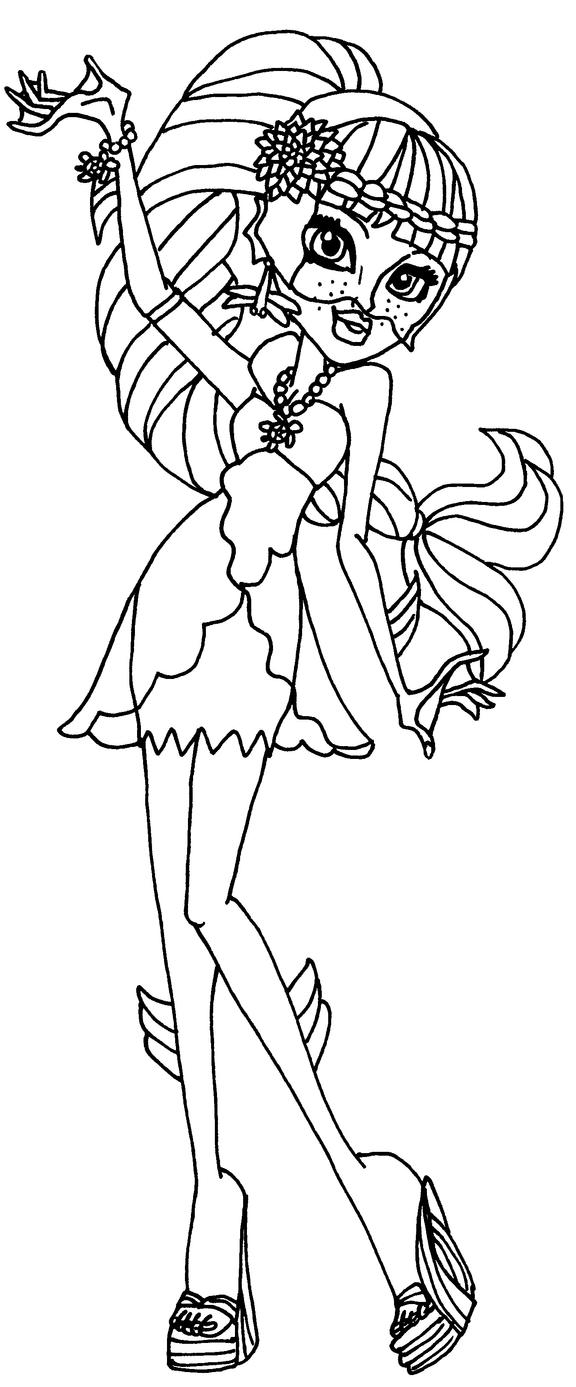 monster high coloring pages lagoona - photo#21