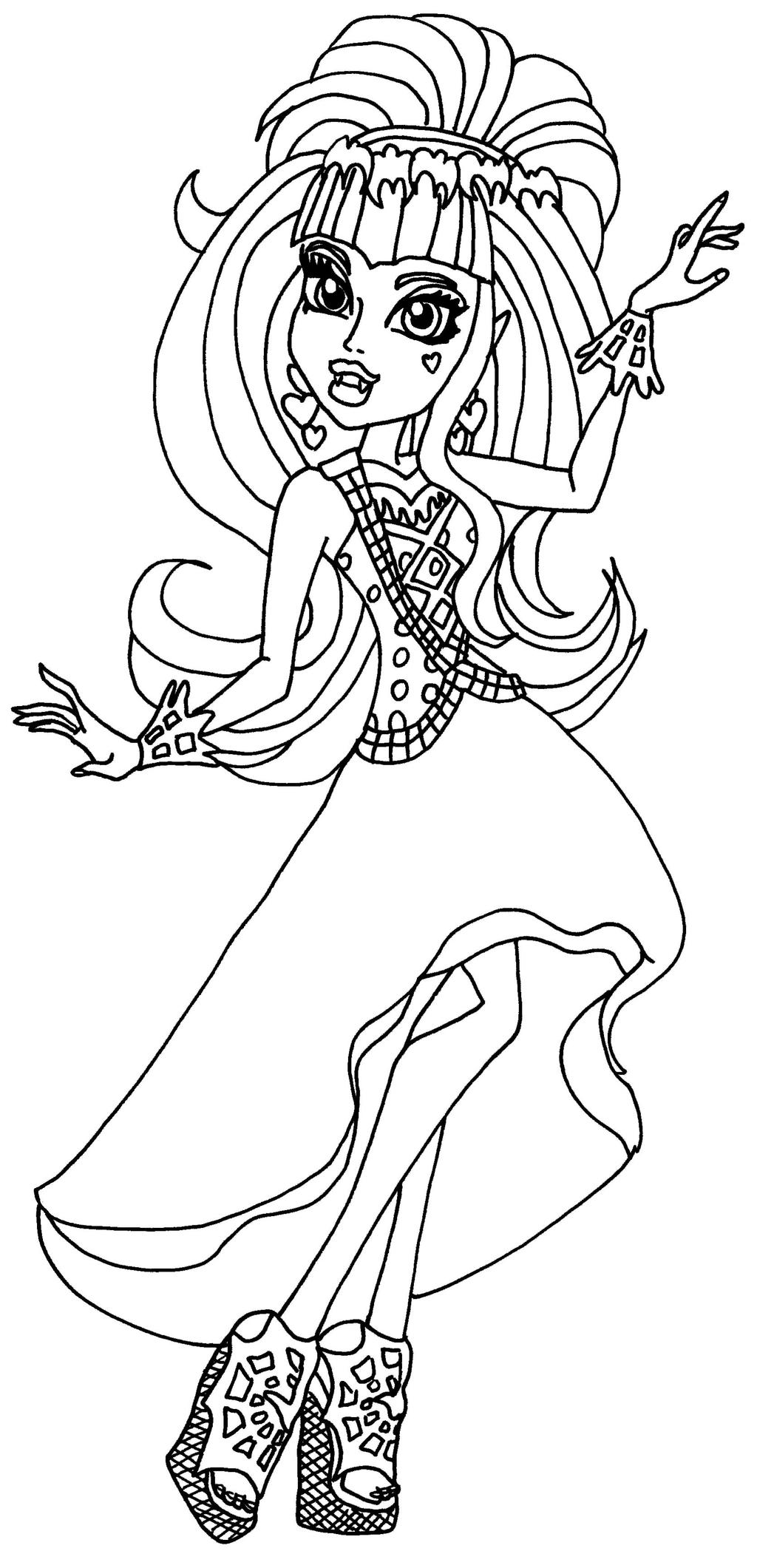 Draculaura 13 wishes by elfkena on deviantart for Draculaura monster high coloring pages
