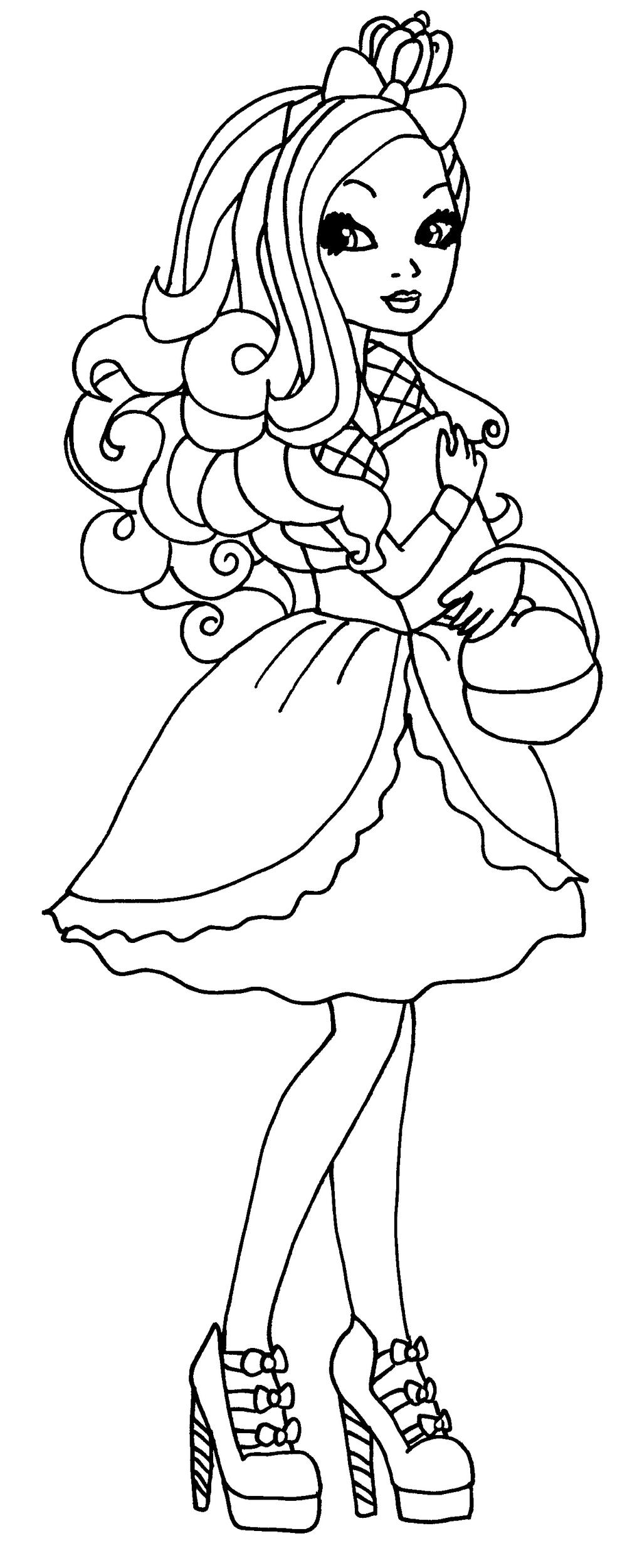 Ever After High Coloring Pages Briar Beauty And Apple White