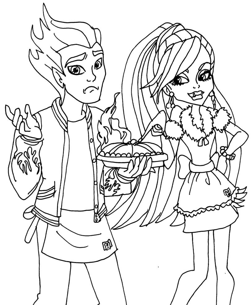 Monster high coloring pages 13 wishes abbey lab partners abbey and