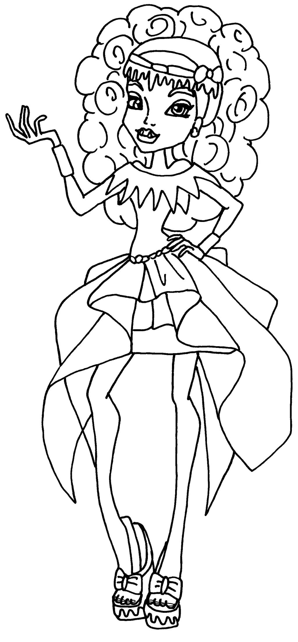 Monster High Coloring Pages Draculaura 13 Wish