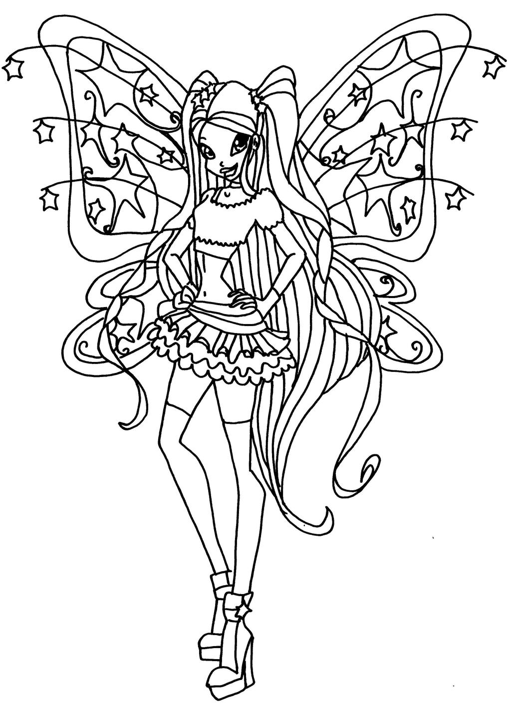 winx stella coloring pages - believix stella by elfkena on deviantart
