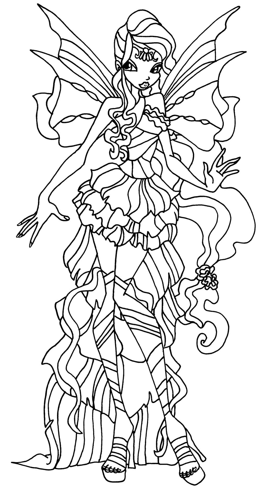 Stella Bloomix Winx Club Coloring Coloring Pages