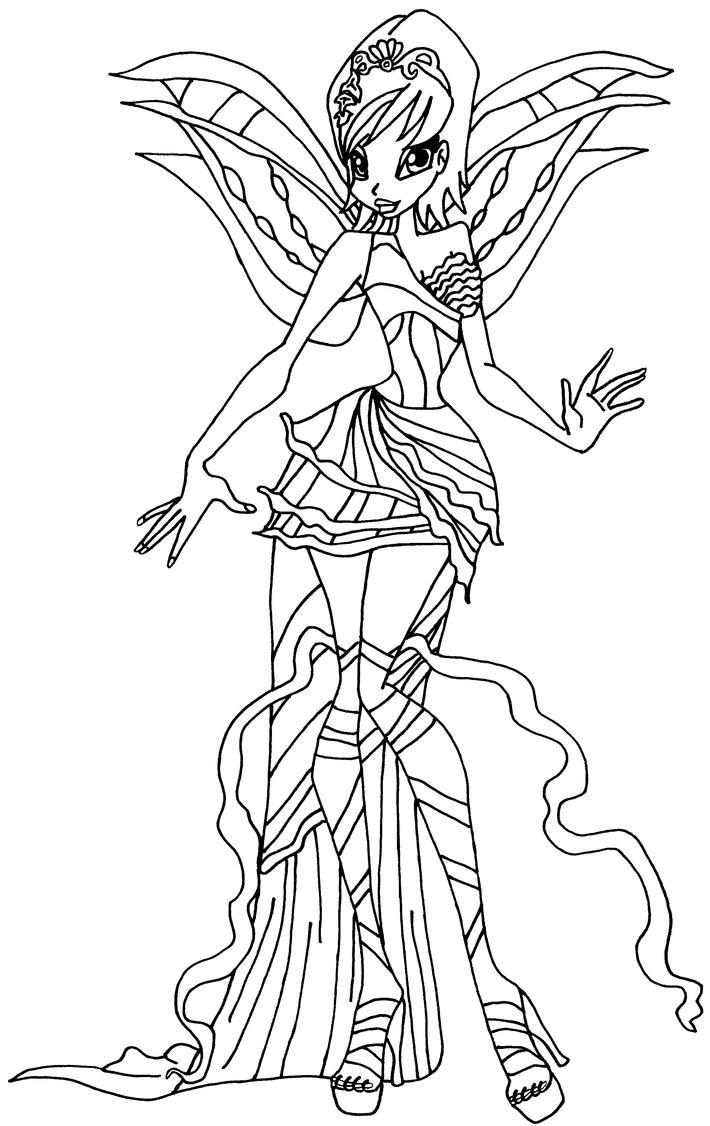 Harmonix tecna by elfkena on deviantart for Disegni winx sirenix da colorare