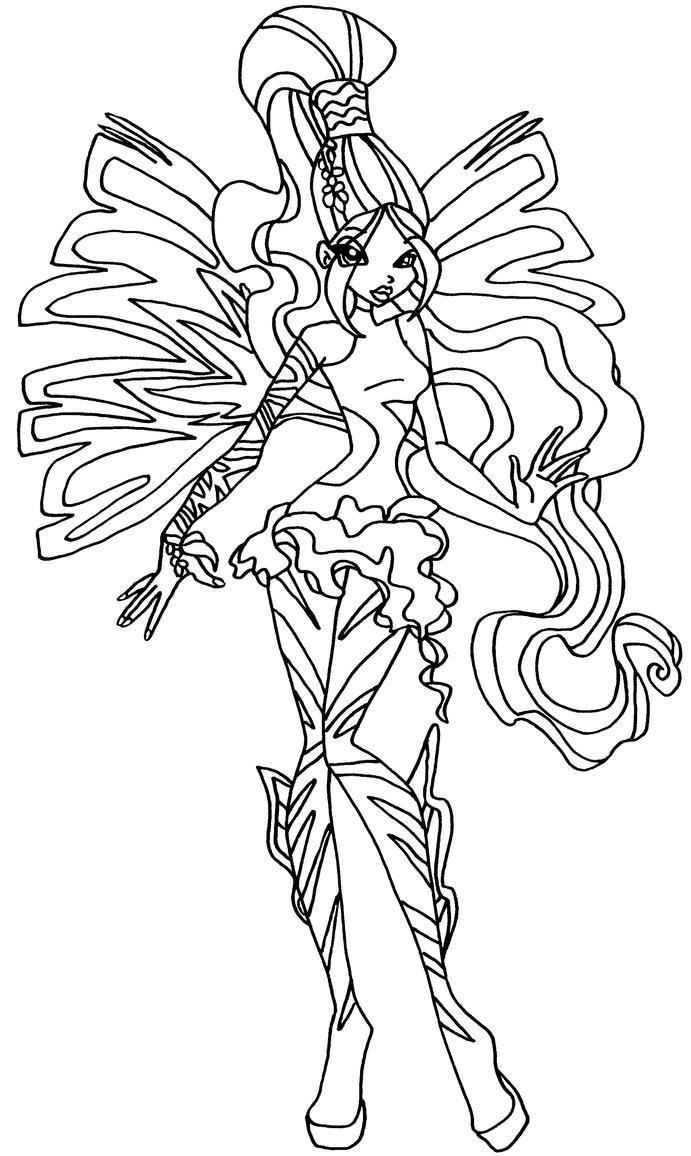 Sirenix layla by elfkena on deviantart for Disegni winx sirenix da colorare