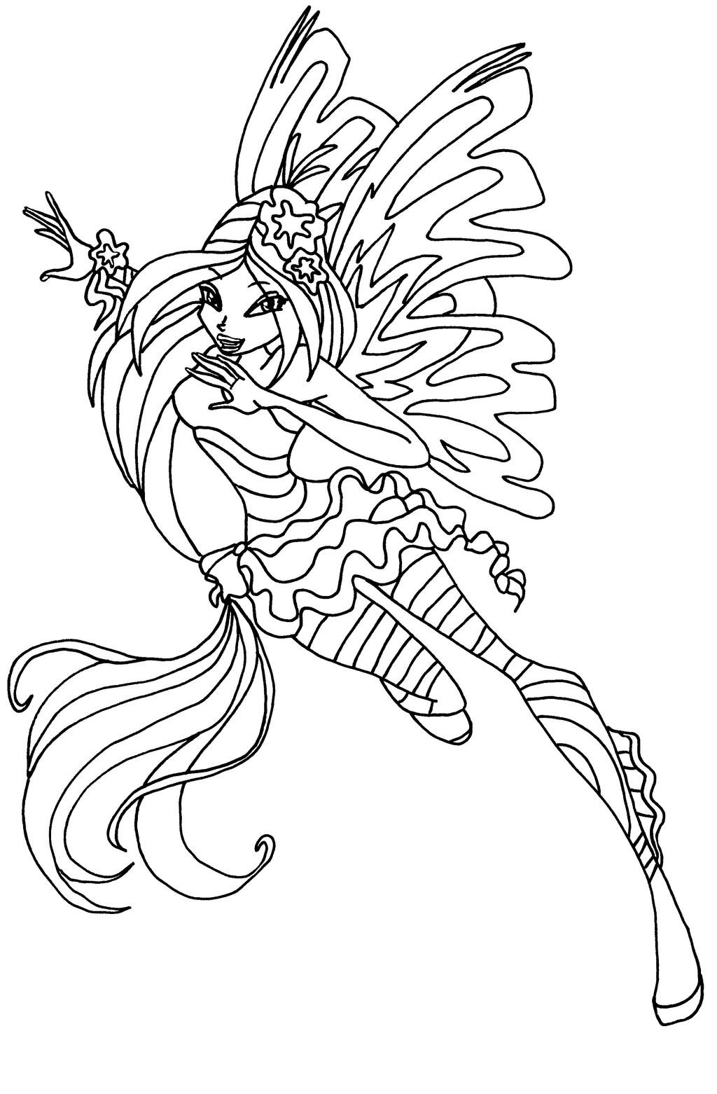 Sirenix flora by elfkena on deviantart for Disegni winx sirenix da colorare