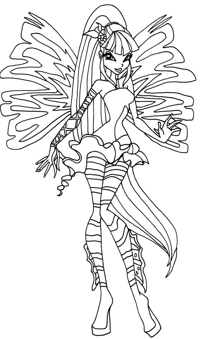Sirenix musa by elfkena on deviantart for Disegni winx sirenix da colorare
