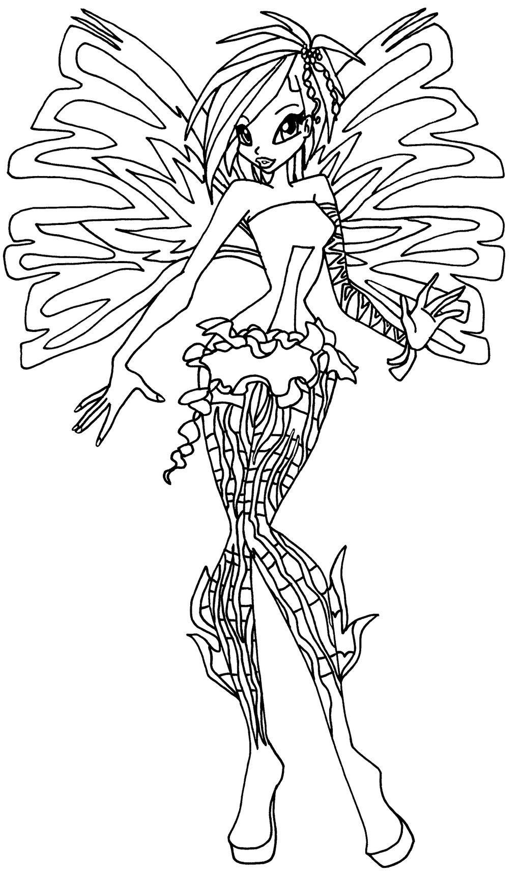 winx club kleurplaten dreamix ausmalbild flora harmonix