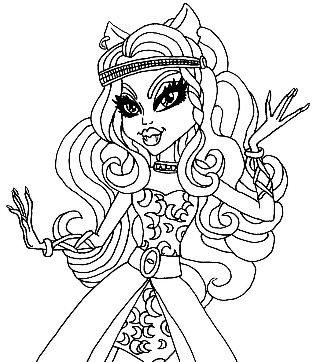 Clawdeen Wolf By Elfkena On Deviantart High Coloring Pages Clawdeen Wolf