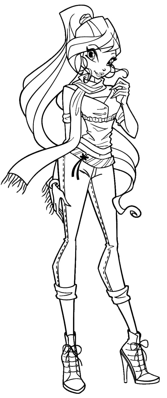 Winx bloom by elfkena on deviantart for Bloom winx coloring pages