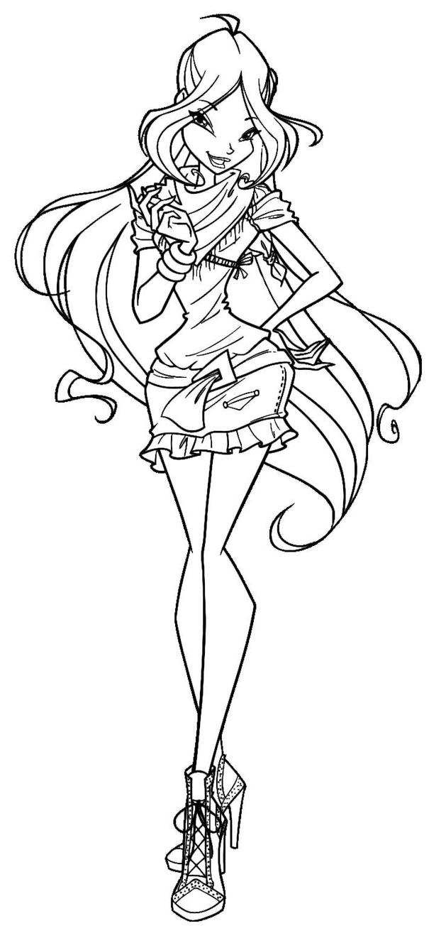 winx club flora coloring pages - winx flora by elfkena on deviantart
