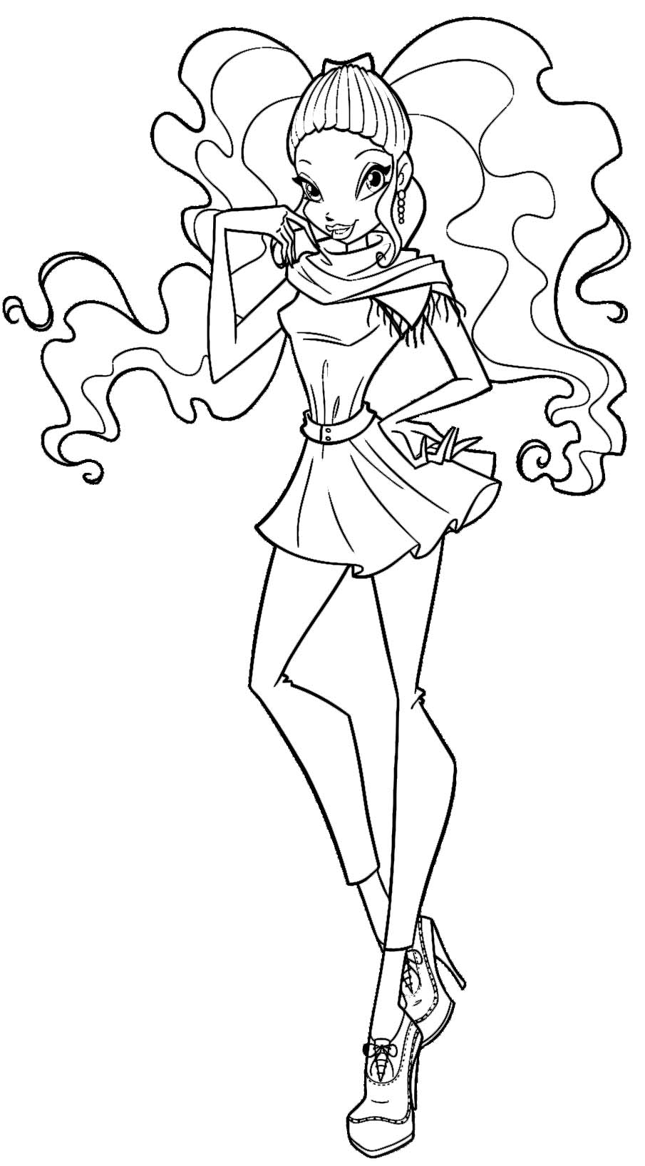 layla winx coloring pages - photo#6