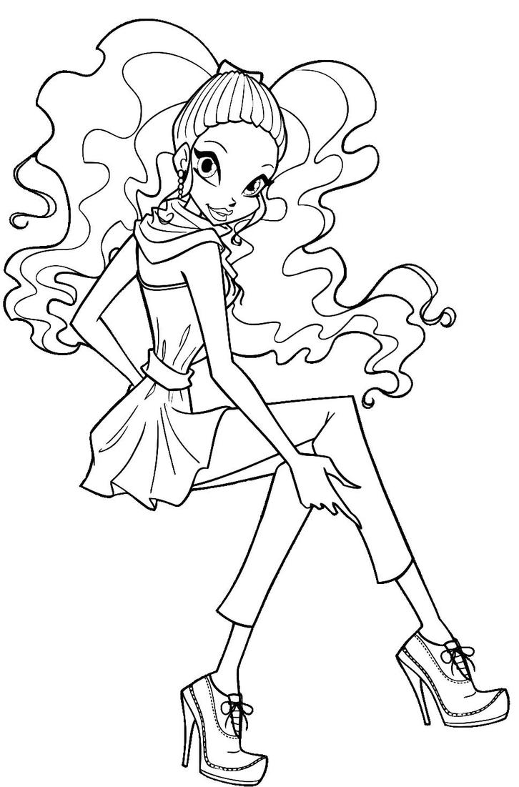 layla winx coloring pages - photo#9
