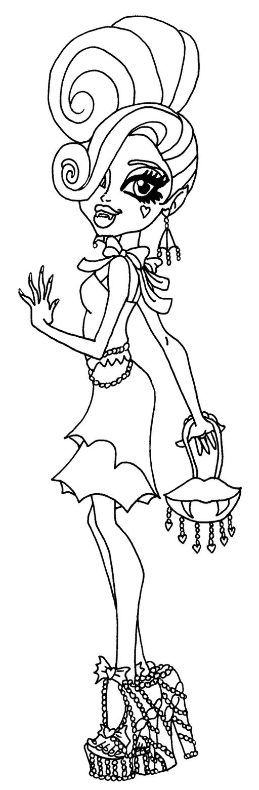 frights camera action monster high coloring pages | Frights Cameras Action Draculaura by elfkena on DeviantArt