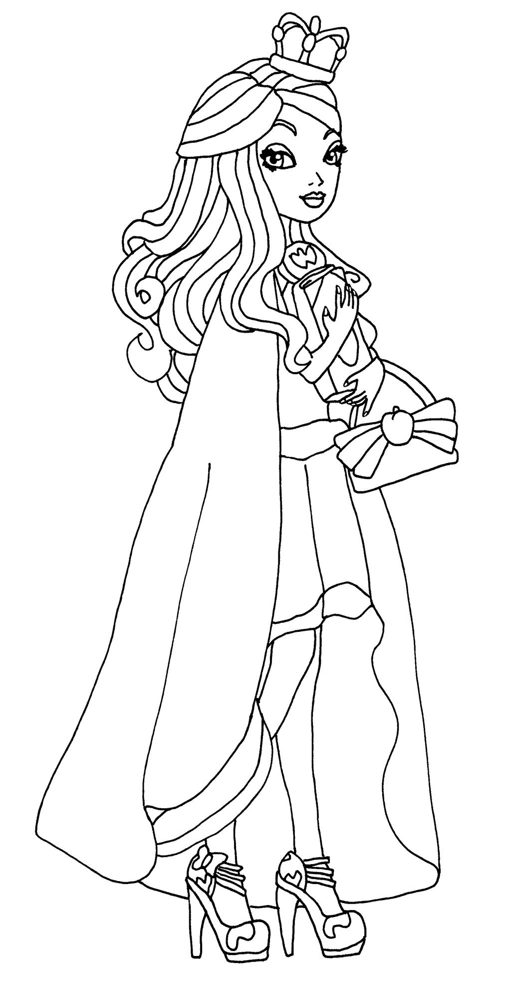 Colouring pages for ever after high - Elfkena 6 0 Legacy Day Apple By Elfkena
