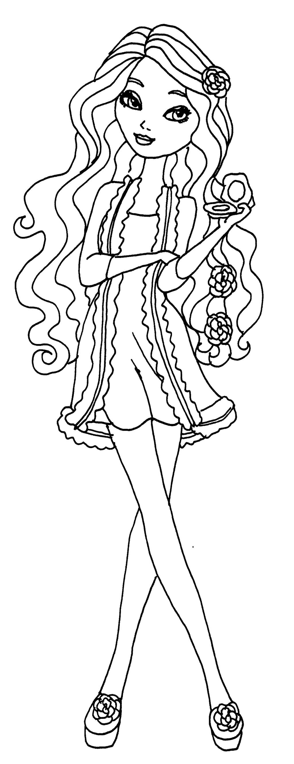 Colouring pages for ever after high - Elfkena 6 0 Getting Faires Briar By Elfkena