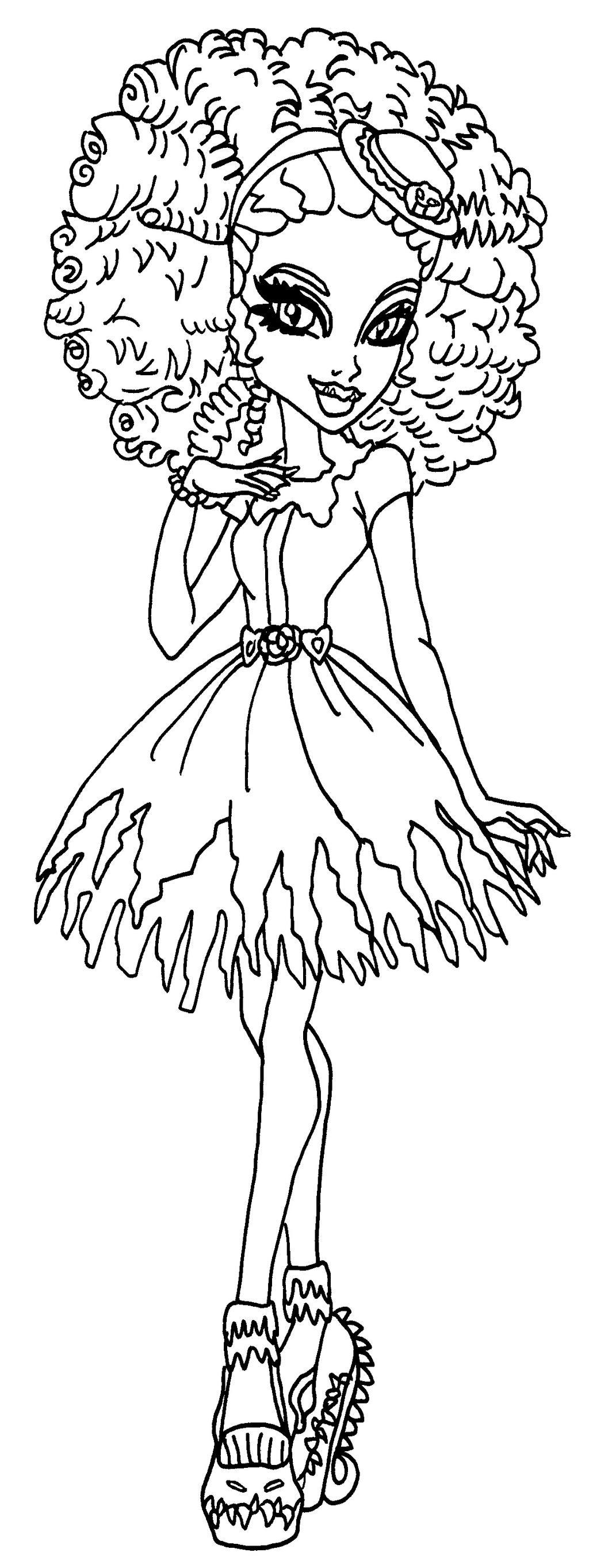 swamp monster coloring pages | Honey Swamp by elfkena on DeviantArt
