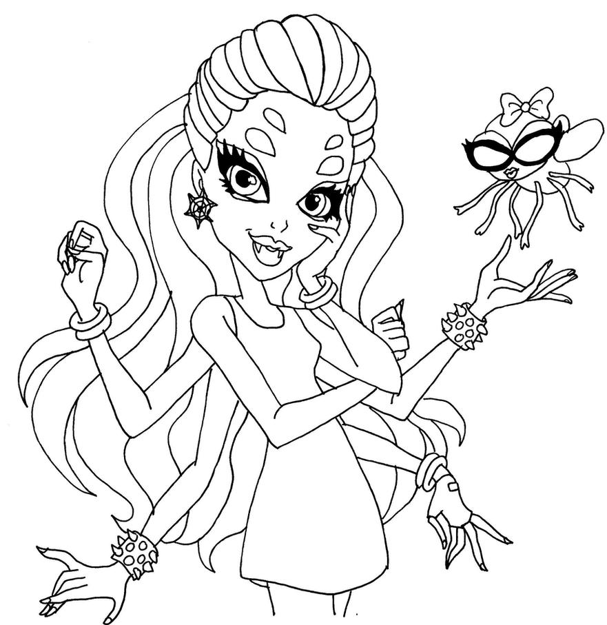 Wydowna Spider By Elfkena On Deviantart High Coloring Pages To Print Out