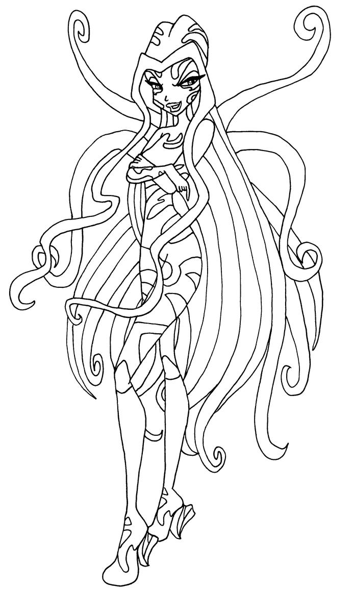 winx trix coloring pages | sirenix darcy by elfkena on DeviantArt