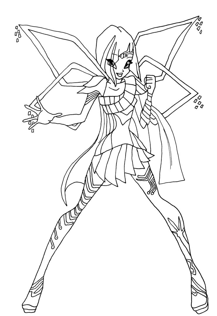 Coloring Pages Winx Club Bloomix Printable Peggy Post Coloring