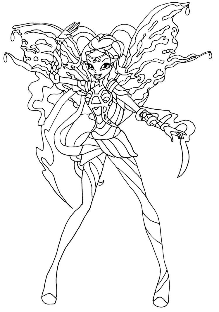 layla winx coloring pages - photo#23