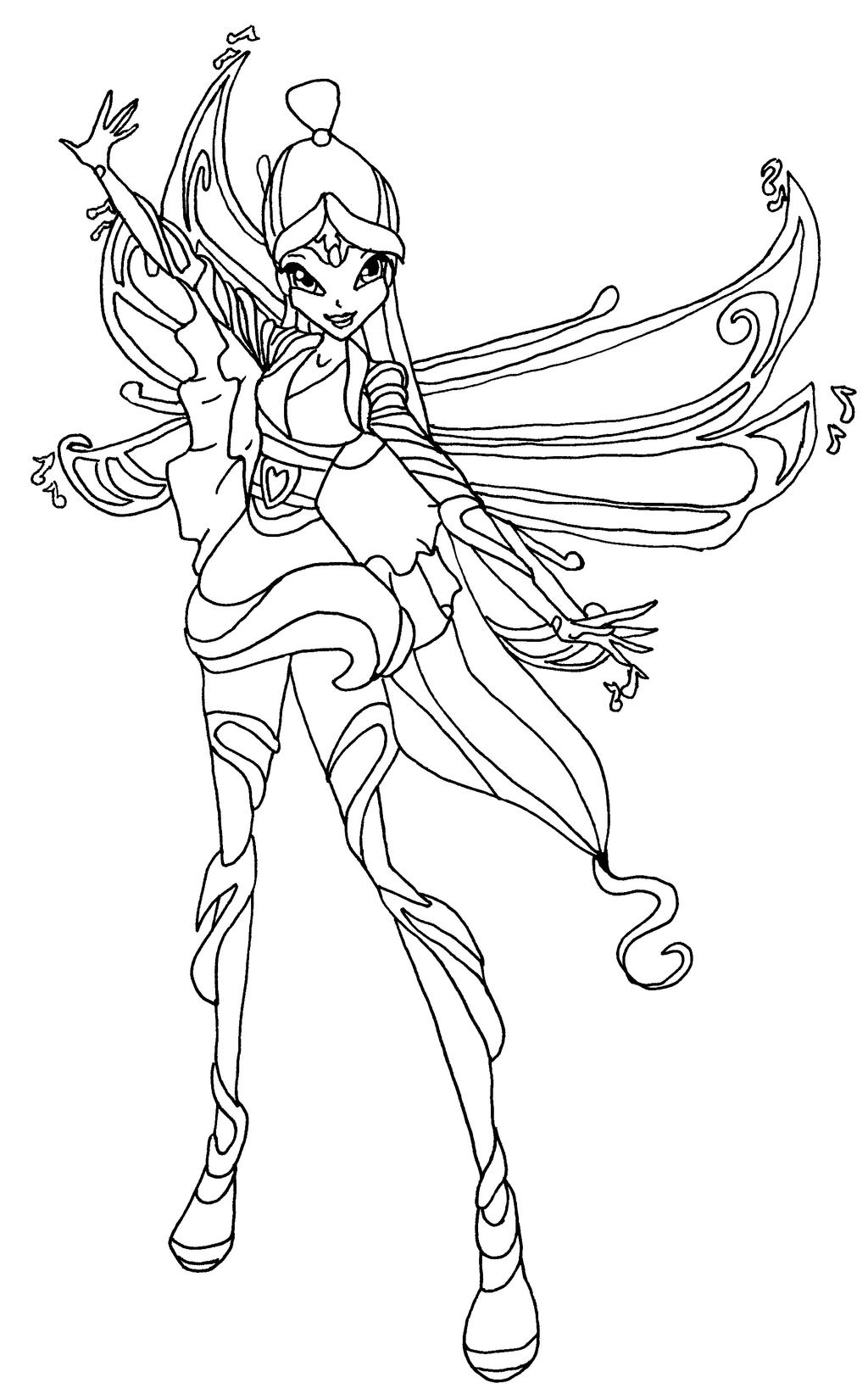 The gallery for winx club bloomix coloring pages for Winx club color pages