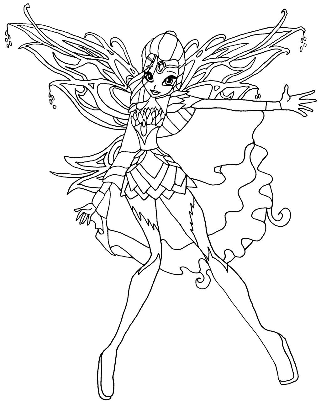 Winx fairy bloom coloring pages - Hellokids.com