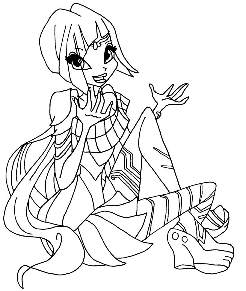 winx club bloomix coloring pages - bloomix tecna 3 by elfkena on deviantart