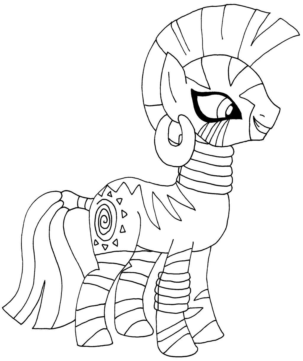 My Little Pony Zecora Coloring Pages : Zecora by elfkena on deviantart