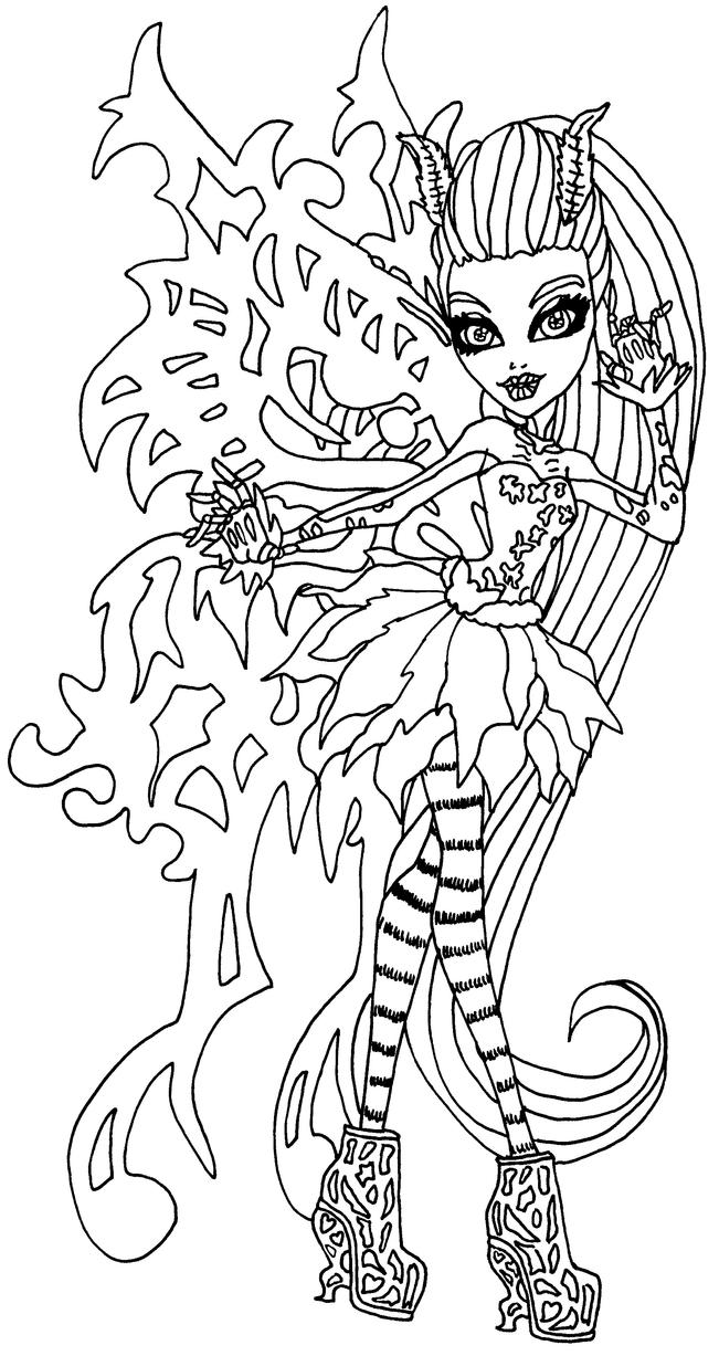 Student Ghoulia Yelps Coloring Pages Monster High Coloring Pages We