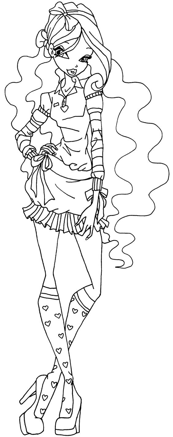 layla winx coloring pages - photo#22
