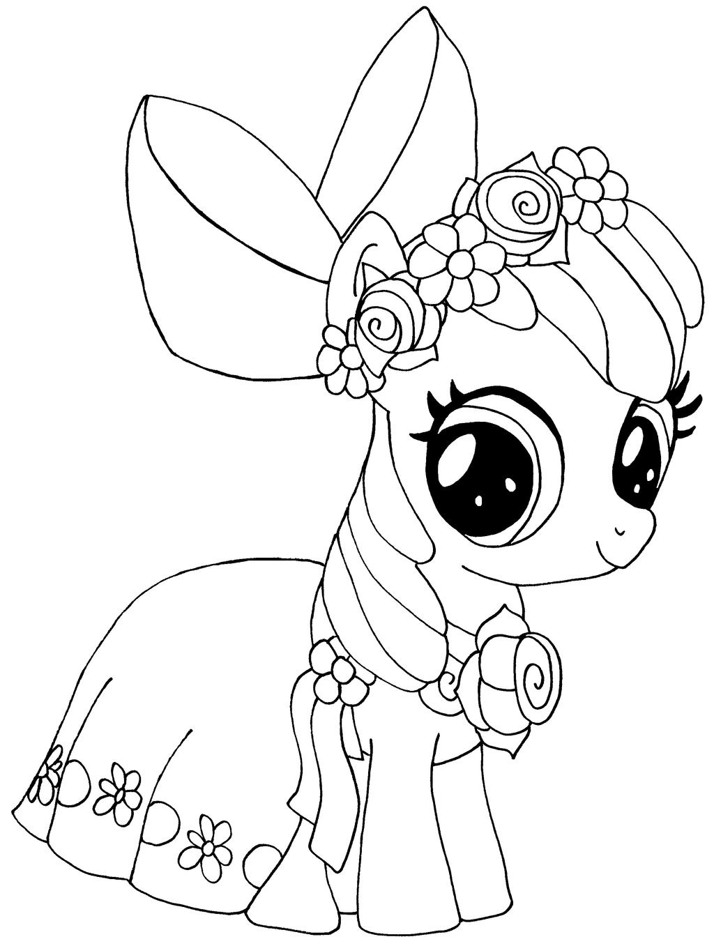 My little pony coloring pages silver spoon - Elfkena 3 1 Apple Bloom By Elfkena
