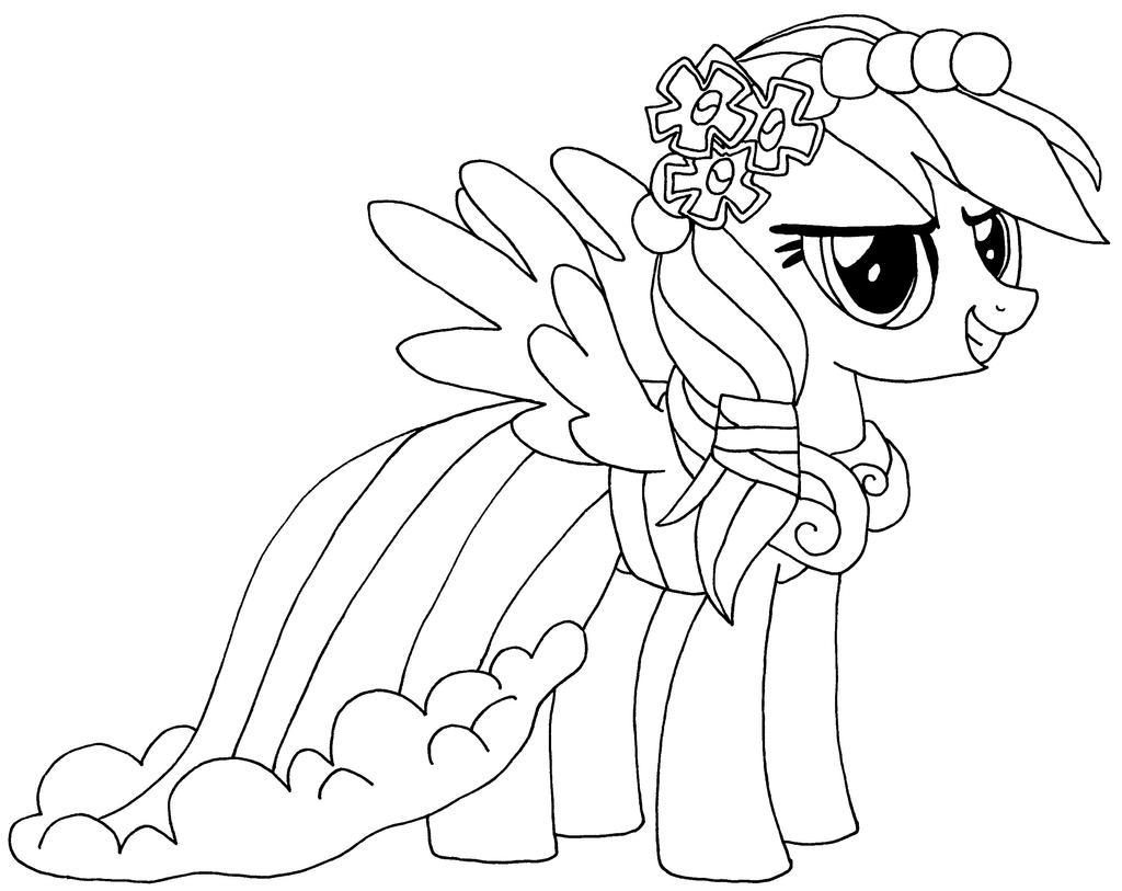 Раскраска май литл пони радуга дэш