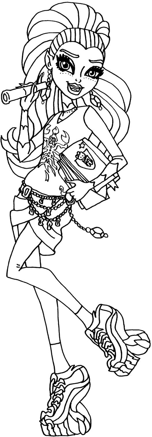 new scaremester gigi grant by elfkena on deviantart monster high draculaura coloring pages - Scary Monster High Coloring Pages