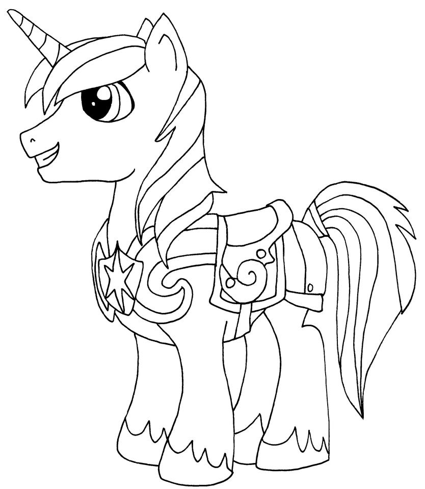 My Little Pony Shining Armour Coloring Pages : Shining armor my little pony coloring pages